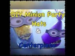 diy minion party hats centerpiece