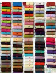 Color Swatches Color Chart Real Color Samples Of Chiffon Satin Elastic Satin Organza Etc