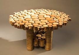 Furniture, Remarkable Unique Rustic Coffee Tables Design Ideas With Small  Wood Pieces Are Arranged Into Tables: Awesome Rustic Coffee Table Design As  a Up ...
