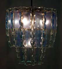 murano chandelier in chiseled glass from fontana arte 1960s 2