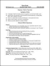 Prep Cook Job Description For Resume From Pantry Cook Resume Resume