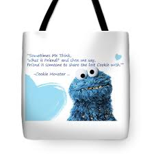 Friendship Is Cookie Monster Cute Friendship Quotes 2 Tote Bag
