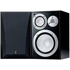 yamaha speakers. yamaha ns-6490 3-way bookshelf speakers, black finish ( pair ) speakers p
