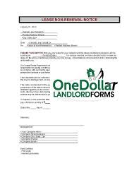 tenant renewal letter c02 lease nonrenewal notice onedollarlandlordforms rental lease