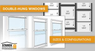Standard Single Hung Window Size Chart Double Hung Window Sizes And Configurations