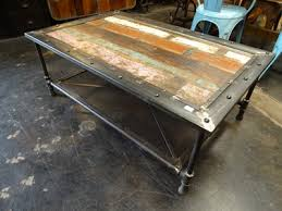 urban industrial furniture. Reclaimed Wood With Industrial Mesh Base Coffee Table Denver Furniture Store Urban