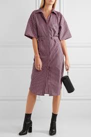 Topshop Unique Tiller Oversized Striped Cotton Shirt Dress Net