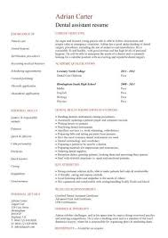 dental student resumes student entry level dental assistant resume template