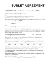 Sublease Agreement Samples Sublease Agreement Sublease Agreement Template Create A Free