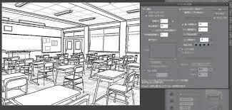 3d背景からうまく線画抽出できない Clip Studio Ask