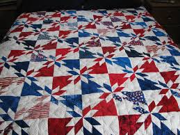 All American Patriotic Quilt - Machine Quilted Star Pattern - www ... & Quality Quilts - All American Starburst Quilt Adamdwight.com