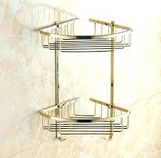 shower shampoo holder wall mounted gold brass bathroom corner shelf bath soap building in shelves from