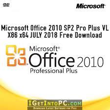 Microsoft Office 2010 Sp2 Pro Plus Vl X86 X64 July 2018