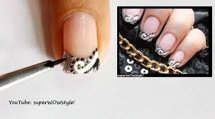 Abstract French Tip Nail Art: How to do French Manicure Nail ...