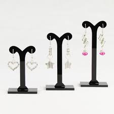 Earring Display Stands Wholesale TONVIC Wholesale 100 Sets BlackClear Acrylic Earring Display Stand 27