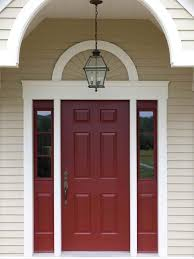 almond color paintBehrs Morocco Red paint for front door love the almond color for