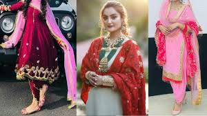 Latest Ladies Suit Designs For Marriage Punjabi Suit For Brides Punjabi Bridal Suit Designs Punajbi Suit For Married Girls