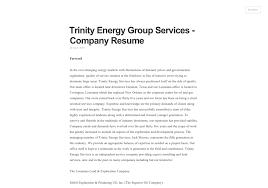 Resume Companies Stunning 710 Trinity Energy Group Services Company Resume Visually