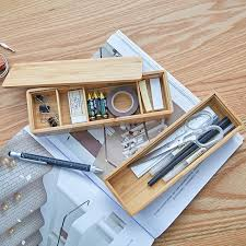 creative office supplies. Bamboo Wood Office Desk Organizer Multi-Use Creative Supplies Stationery Box Can Strip Storage M