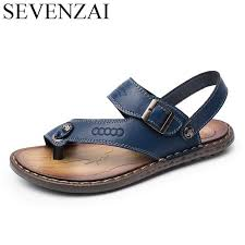 sandals mens summer leather leisure shoes luxury italian brand male shoes designer breathable flats slides