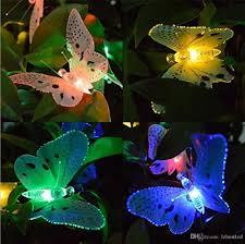 2019 12 Leds Butterfly Solar String Lights Multi Colors Solar Power