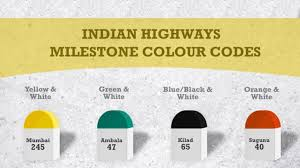 Indian Stone Colour Chart Why Do Indian Roads Have Coloured Milestones Education
