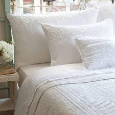 Cottage Style Living » Catalog » Bedding » Quilts & Shams & Taylor Linens Abigail White Matelasse Quilt and Shams Adamdwight.com