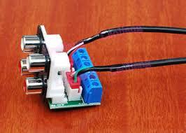 audio input lotus rca adapter wiring board diy mm p signal image is loading audio input 4 lotus rca adapter wiring board