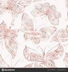 Butterflies with decor pattern ...