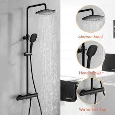 Duschamatur Schwarzthermostat Duschset Duschsystem
