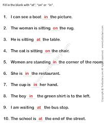 Preposition Worksheets For Middle School Worksheet Fun And