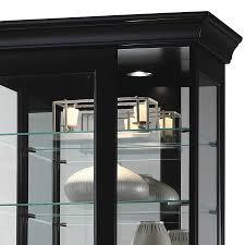 black sliding door curio cabinet 680578 curio cabinet halogen lighting