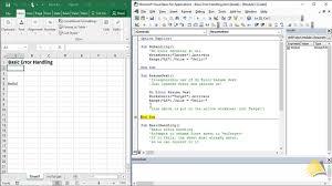 Error Types Microsoft Excel Macros And Vba Goskills