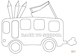 Small Picture Back to School Bus coloring page Free Printable Coloring Pages