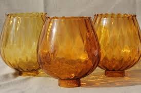 lighting globes glass. Vintage Handblown Art Glass Lamp Globes New Old Stock Lot Amber Shades Lighting