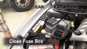 blown fuse check 2004 2006 pontiac gto 2004 pontiac gto 5 7l v8 6 replace cover secure the cover and test component