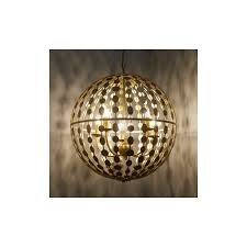 alvah 5 light gold globe pierced metal ceiling pendant