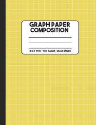 Graph Paper Composition Yellow Quad Graph Paper Notebook