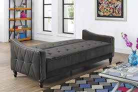 full size of furniture tufted twin sleeper sofa with black fabric cover and wooden legs for
