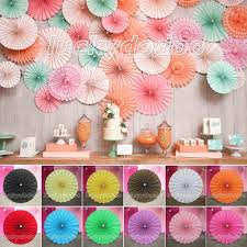 paper flowers wheel fans background wedding birthday party diy