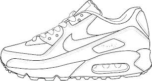 Jordan Coloring Pages Shoes Air Ring Pages Page Shoes Shoe R Max