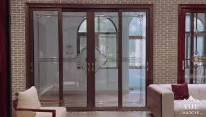 foshan top 1 aluminum tempered glass sliding door for bathroom