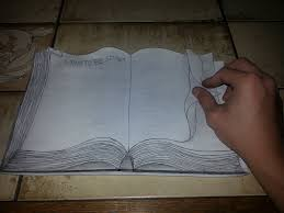1024x768 3d book drawing