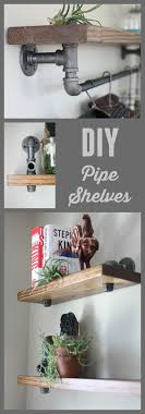 Professional looking industrial shelves that anyone can make. All you need  is this tutorial, pipe, wood, and screws.