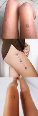 Women S Thigh Tattoos Designs Minimalist Thigh Tattoo Ideas For Women Sun And Moon Leg