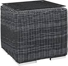 Outdoor Side Tables - Glass Top / Side Tables ... - Amazon.com