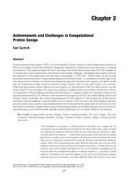 De Novo Enzyme Design Using Rosetta3 Pdf Achievements And Challenges In Computational Protein Design