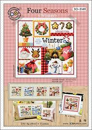 Amazon Com So 3149 Four Seasons Winter Soda Cross Stitch