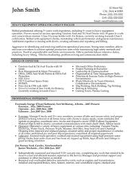 Professional Heavy Equipment Operator Resume Example Featuring Areas Of  Expertise Also Work Experience