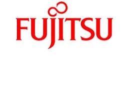 fujitsu logo. claim £100 cashback on fujitsu scanners! logo e